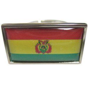 Bolivia Flag Fashion Ring